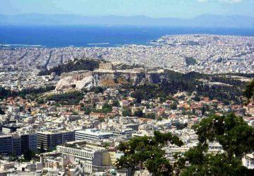 Dlaczego lubię Grecję, Widok na Ateny ze wzgórza Likabet