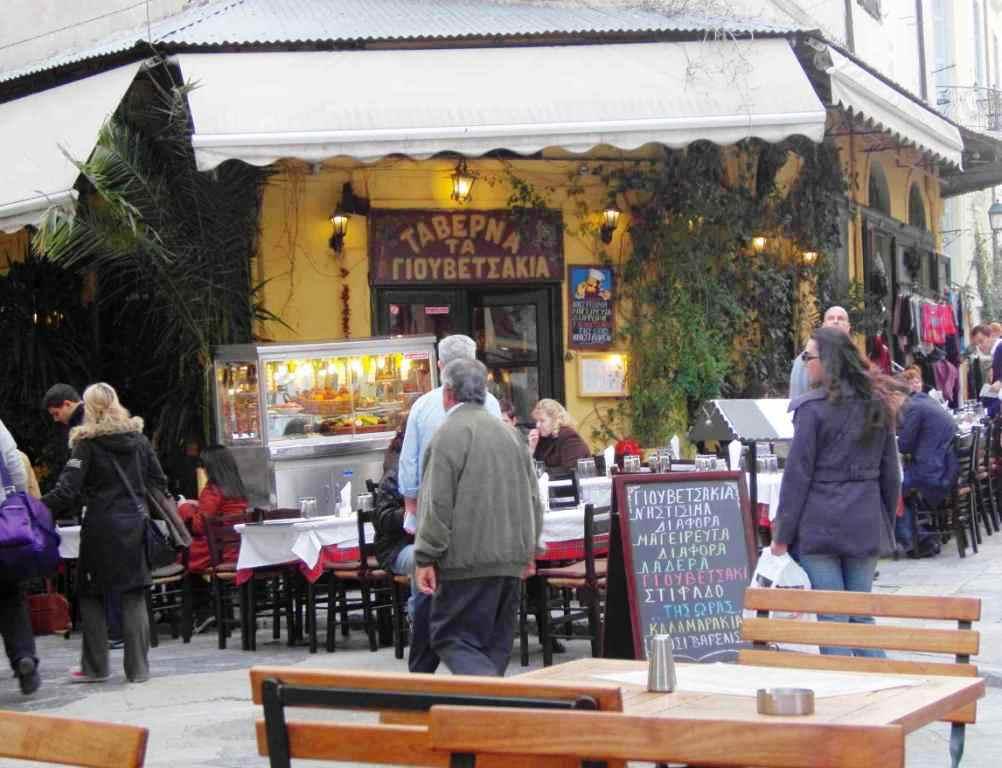 Grecka tawerna w Atenach w dzielnicy Plaka