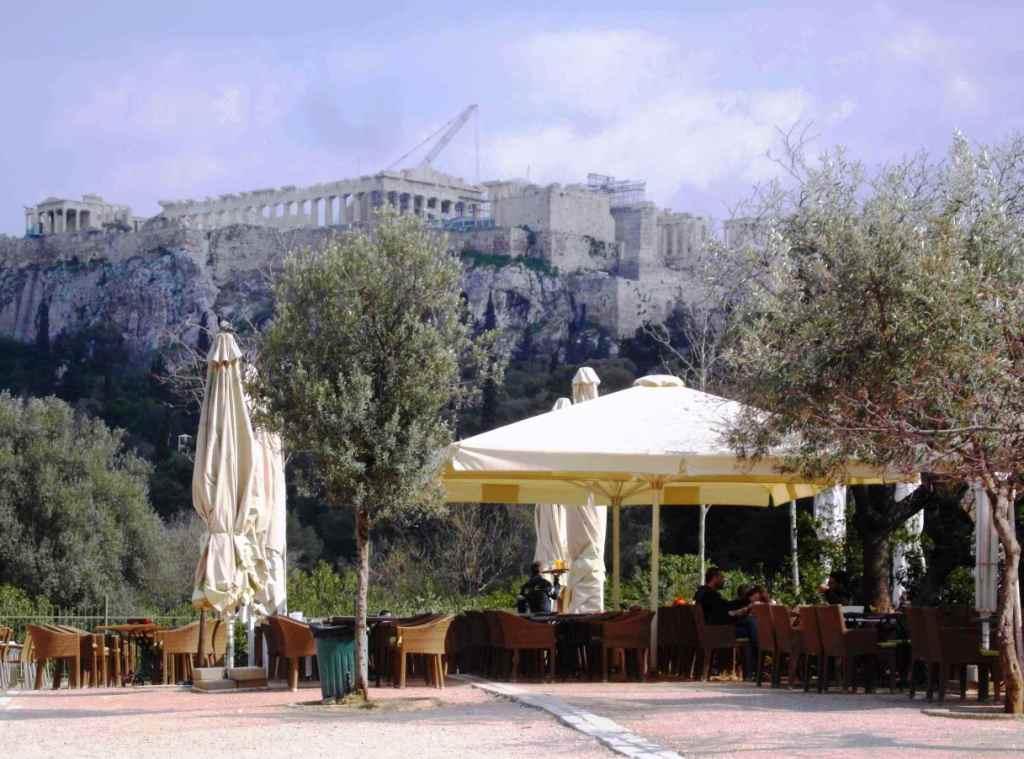 Starożytne Ateny z Akropolem
