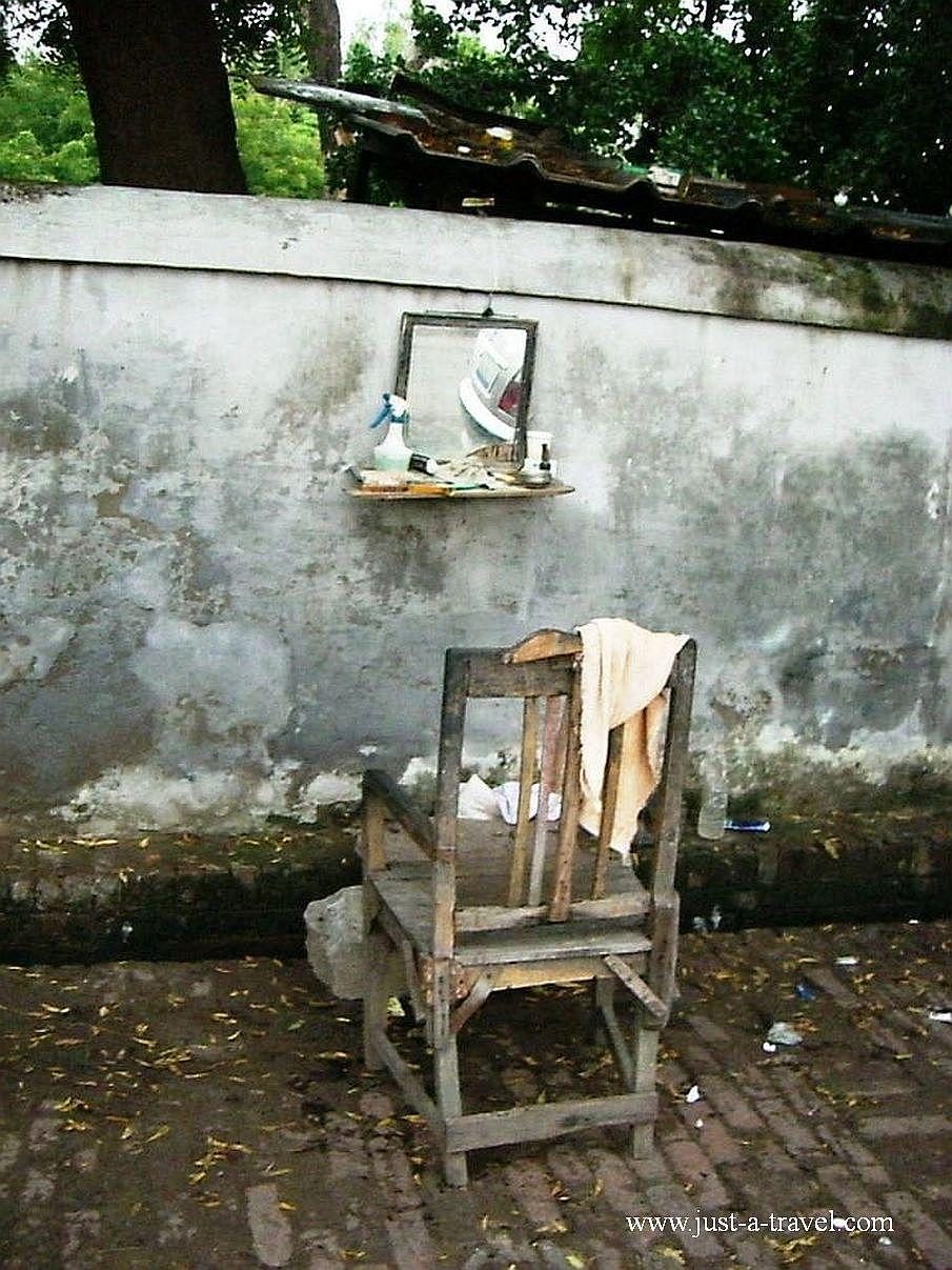 9.fryzjer 1 - Zdjęcia z Indii
