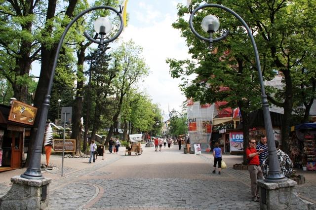 Krupówki centralna ulica Zakopanego