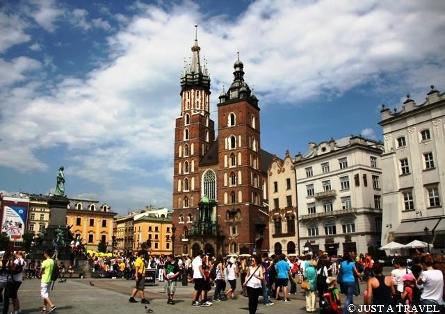 Rynek i Kościół Mariacki w Krakowie