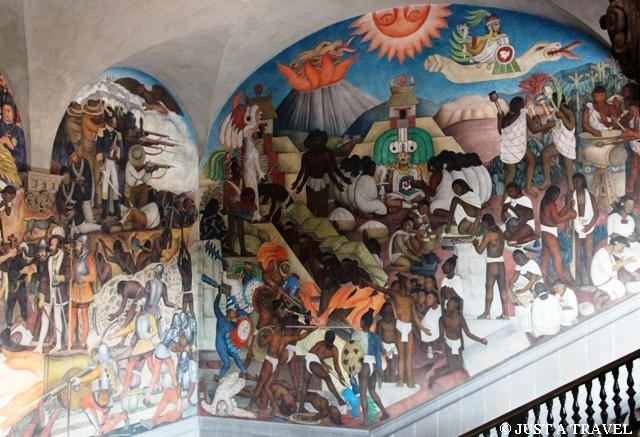 Freski Diego Riviera w Palacio National