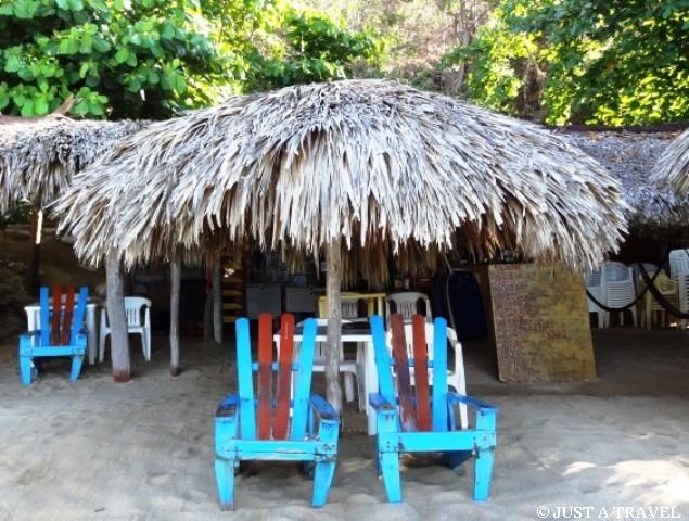 chatki na plaży