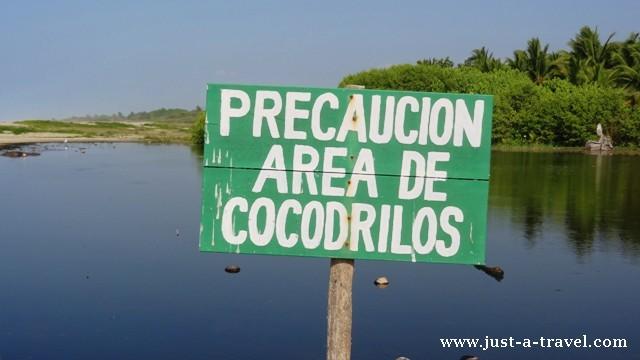 Laguna w La Ventanilla pełna jest krokodyli