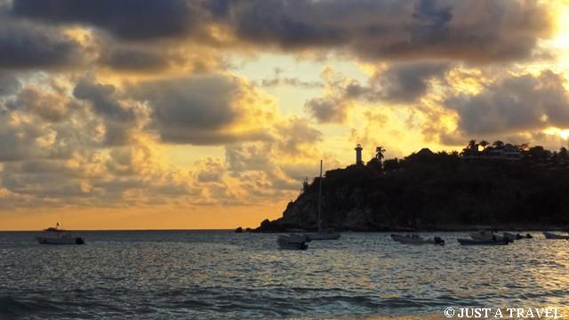 zachód słońca w Puerto Escondido