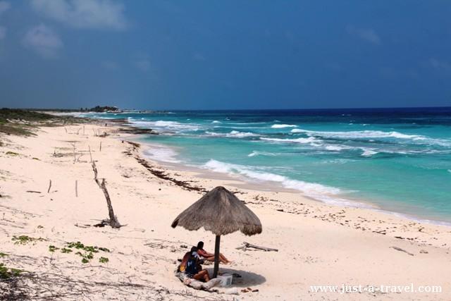 plaża na wyspie Cozumel