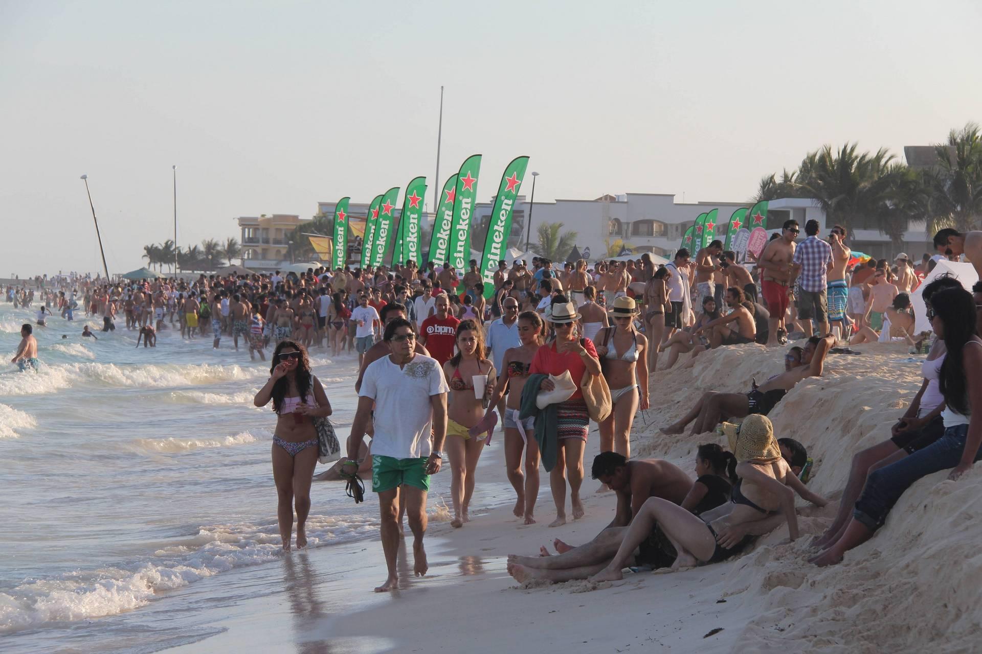 Wielkanoc w Meksyku, tłumy w Playa del Carmen