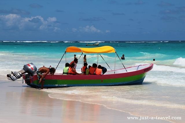 Playa Maya i barka