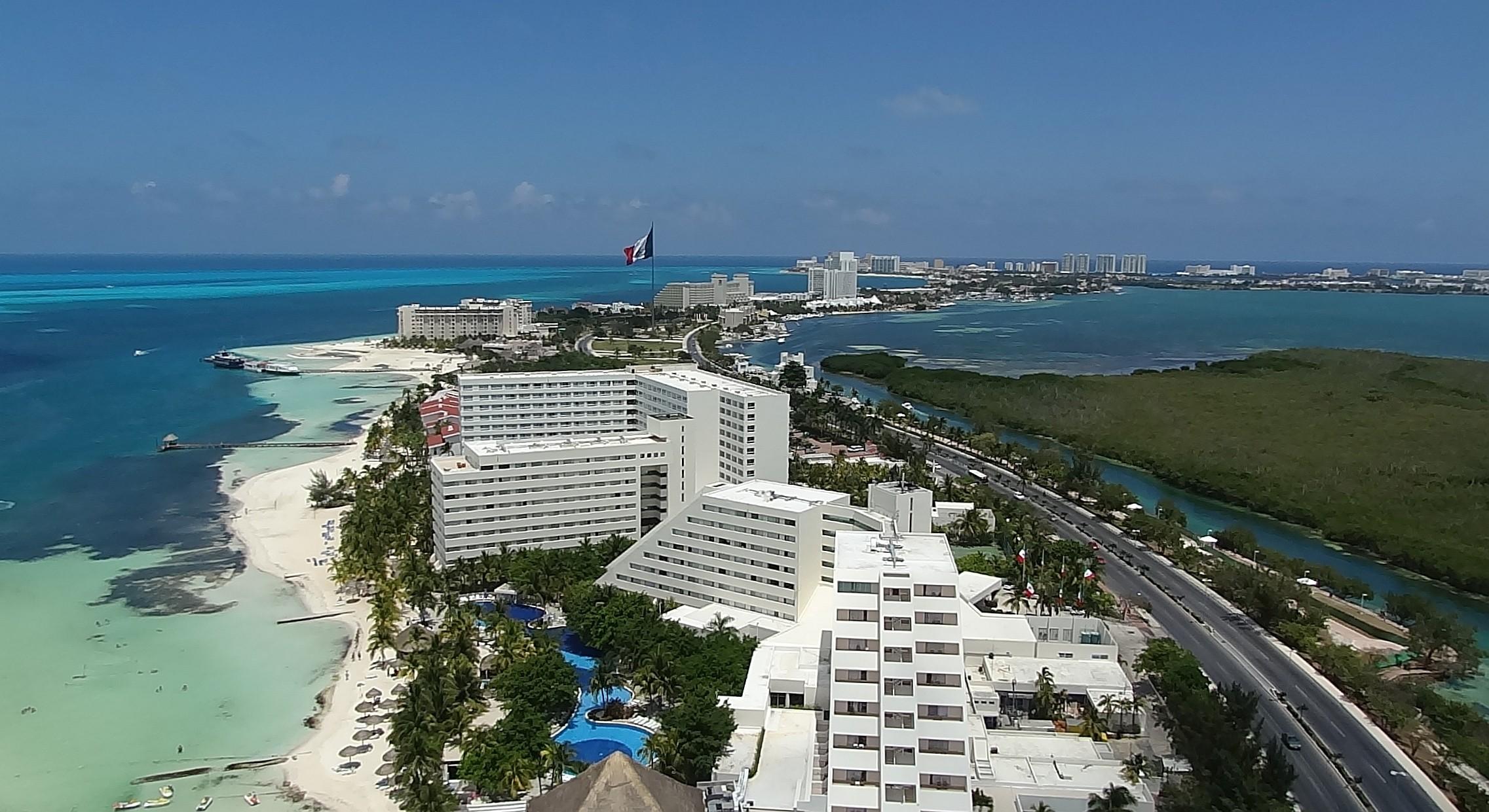 Cancun z lotu ptaka