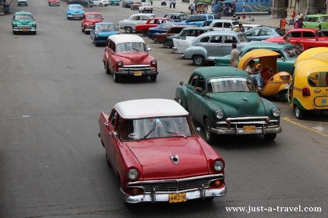 auta w Hawanie