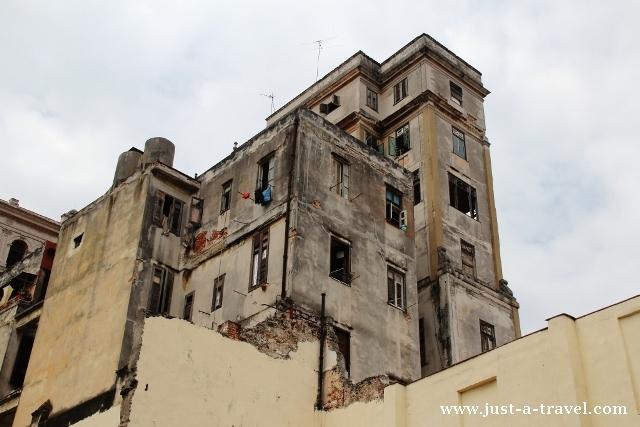 walący się dom w Hawanie
