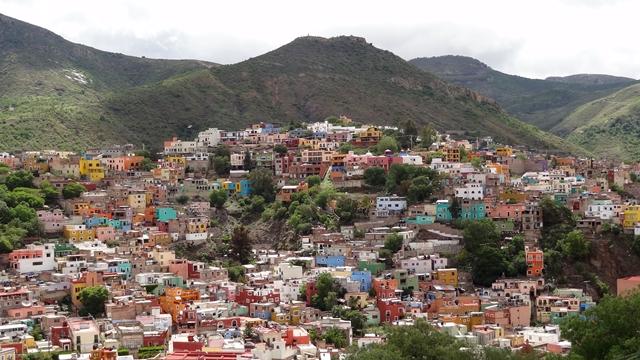 Guanajuato panorama miasta