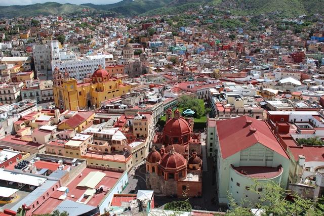 Guanajuato z lotu ptaka