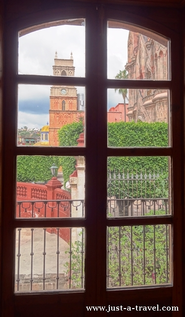 Widok z okna domu Ignacio Allende