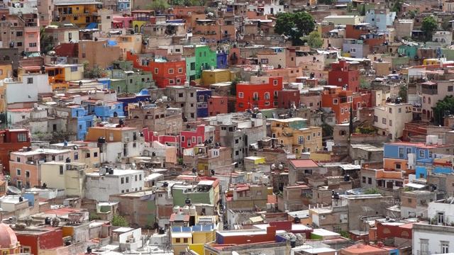 kolorowe domki Guanajuato