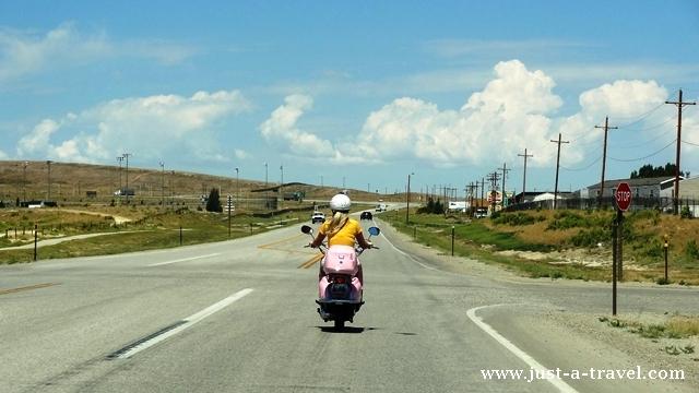 blondynka na motorze