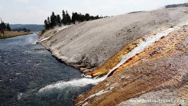 Gorąca rzeka Yellowstone