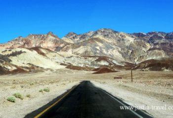 Kaniony, Indianie i kowboje, Artist Drive Park Narodowy Doliny Smierci