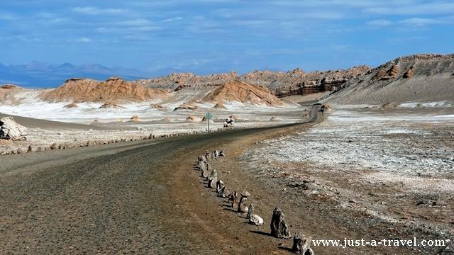 Droga w Valle de la Luna