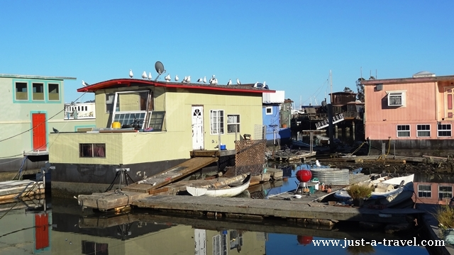 Pływające domy w Sausalito