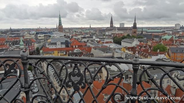 Widok na Kopenhagę z Rondetarn