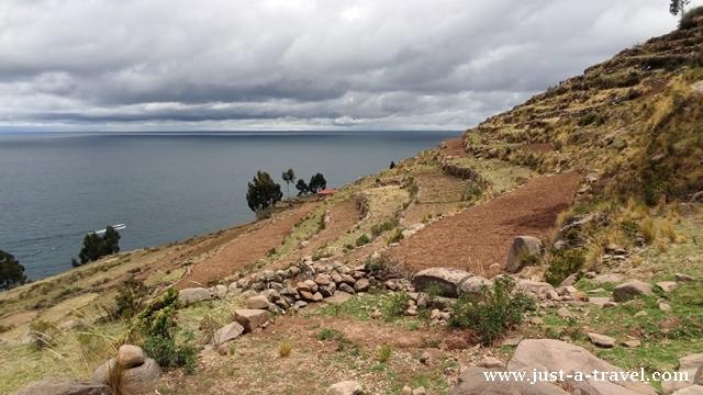 Tarasy uprawne na wyspie Taquile