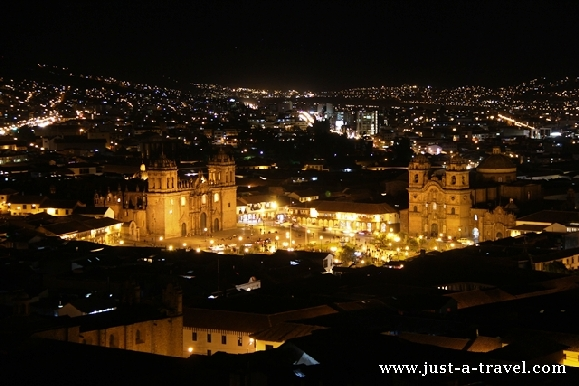 Cuzco w nocy