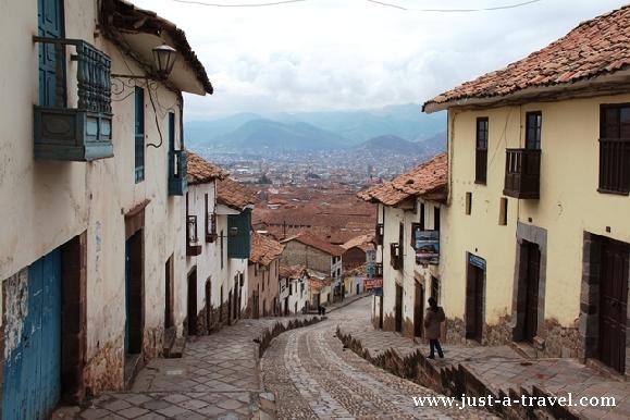 Droga do centrum Cuzco
