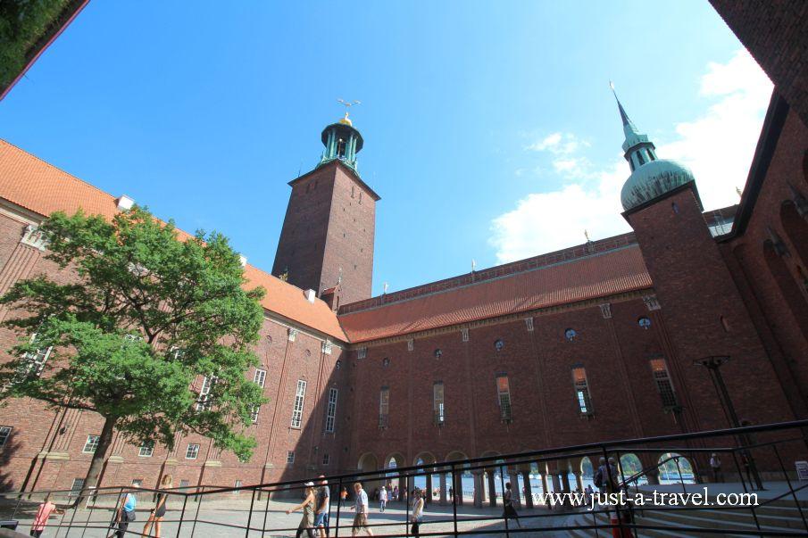 Dziedziniec Ratusza w Sztokholmie