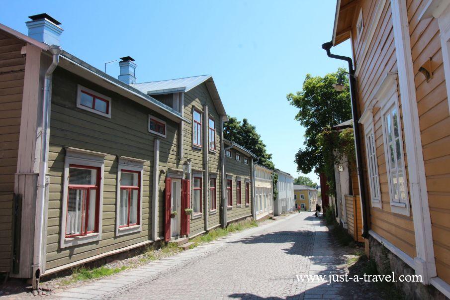 Drewniane domki z Porvoo - Magiczne miasteczko Porvoo
