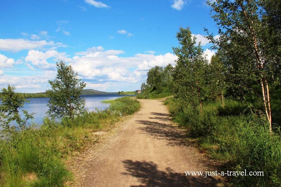 Jezioro Inari - Inari i komary
