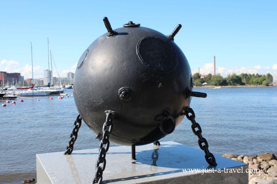 Mina morska z II Wojny Swiatowej - Helsinki i Muminki