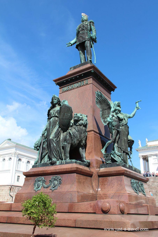 Pomnik Cara Aleksandra II - Helsinki i Muminki
