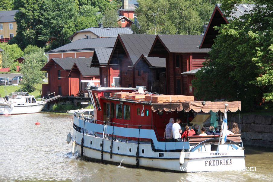 Rejs statkiem po rzece Porvoonjoki2 - Magiczne miasteczko Porvoo