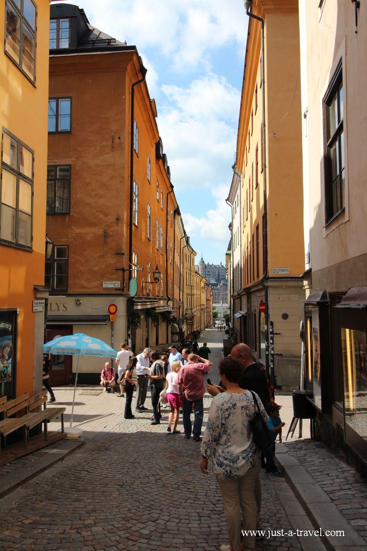 Sztokholm uliczka na starym miescie - Weekend w Sztokholmie