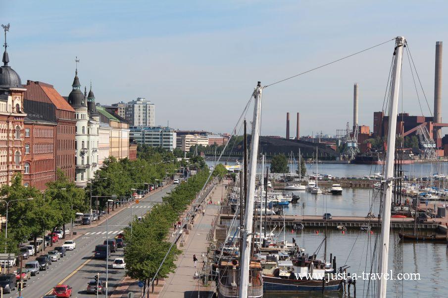 Widok na Helsinki - Helsinki i Muminki