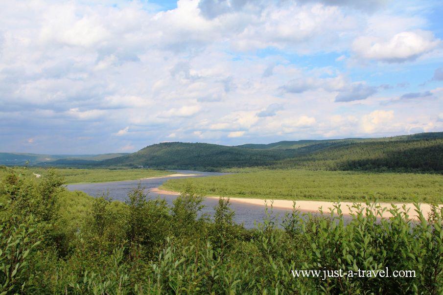 Rzeka graniczna - Honningsvag czyli kierunek Przylądek Północny Nordkapp