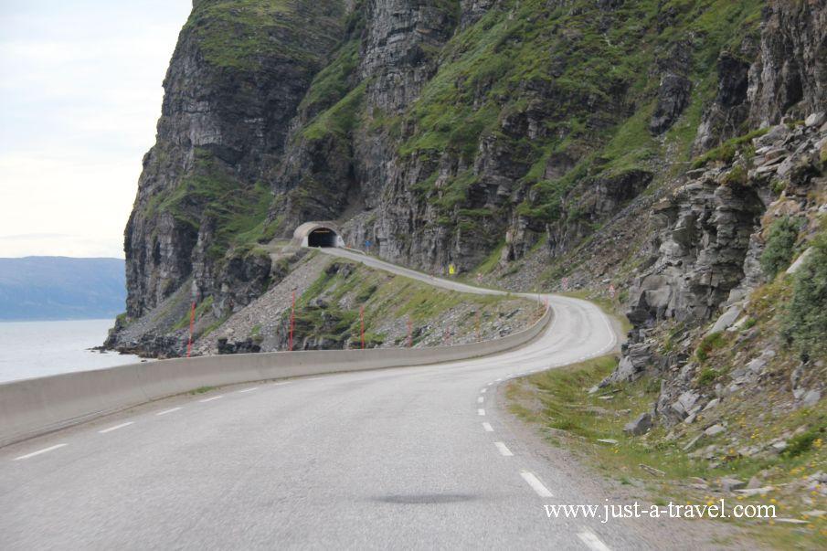 Tunel - Honningsvag czyli kierunek Przylądek Północny Nordkapp