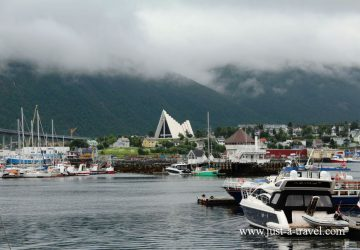 Tromso port i Katedra Arktyczna