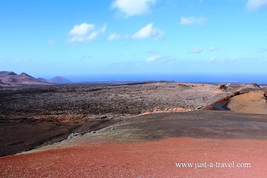 Księżycowy krajobraz na Lanzarote