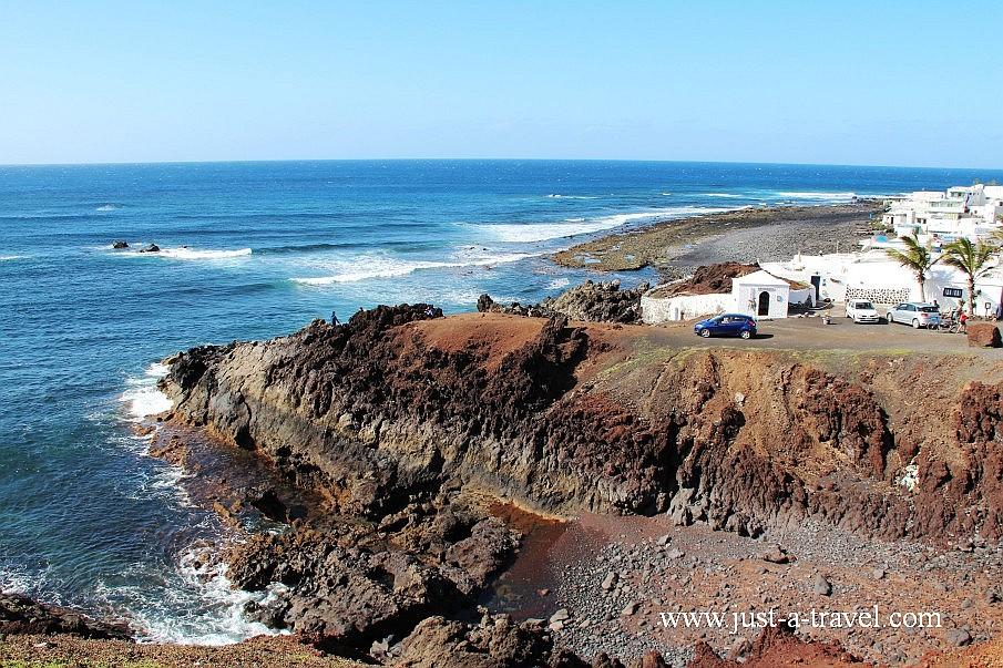 El Golfo na wyspie Lanzarote