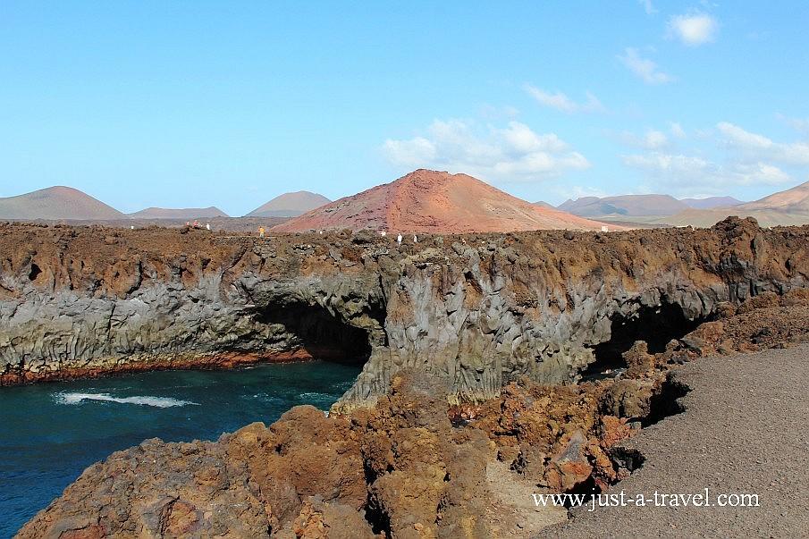 Los Hervideros na wyspie Lanzarote
