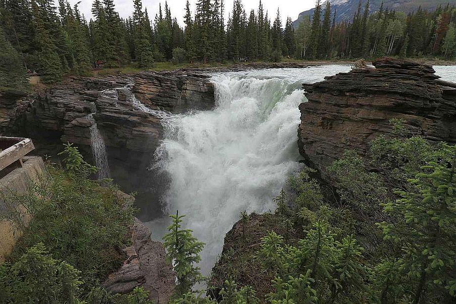Park Narodowy Jasper, Kanada, Wodospady Athabasca