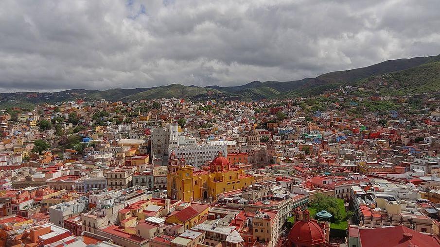 Guanajuato miasta kolonialne Meksyku