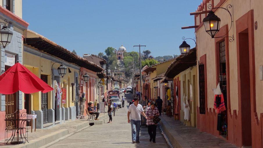 San Cristobal de las Casas miasta kolonialne Meksyku