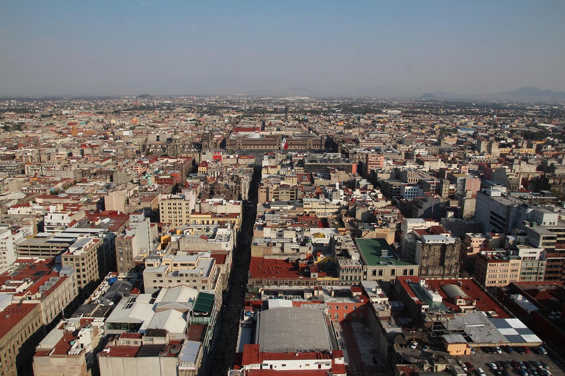 Meksyk plan podróży, Mexico City z Torre Latinoamericana